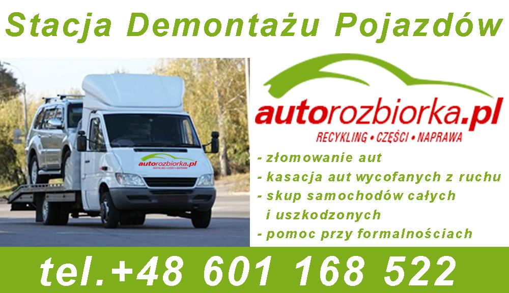 Stacja Demontażu Pojazdów- autorozbiorka kasacja aut-skup aut olx