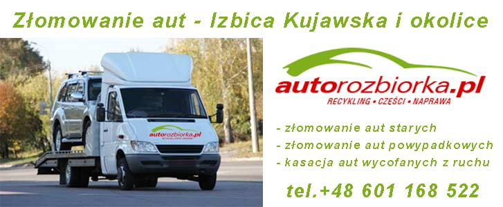 Złomowanie aut Izbica Kujawska